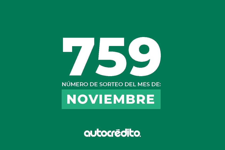 Número favorecido de noviembre